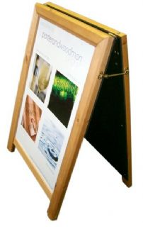 Wooden A-Board poster Holder and Chalk board